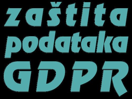 zaštita podataka gdpr - dekorativni naziv stranice